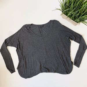 Brandy Melville Oversized Long Sleeve Grey OS